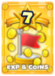 Increases the EXP and Coins earned after battle by 50%.