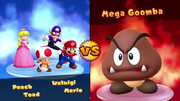"""Main text font comparison between Mario Party 10 (top), Mario Party: The Top 100 (middle; """"100 Minigames"""" and """"Revers-a-Bomb"""") and Super Mario Party (bottom; """"Online Mariothon"""" and """"Worldwide Match"""")"""