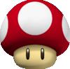 A Mushroom from Mario Kart 7.