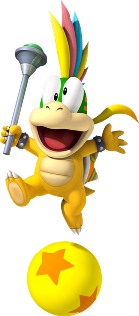 Artwork of Lemmy Koopa from New Super Mario Bros. Wii