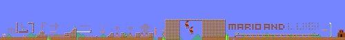 Layout of Mario & Luigi: Paper Jam in Super Mario Maker.