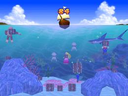 The minigame Treasure Divers.