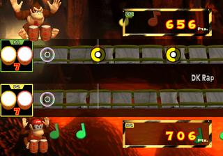 """The multiplayer """"Battle"""" mode of Donkey Konga"""