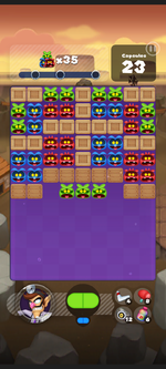 Stage 201 from Dr. Mario World
