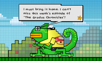 Francis mentioning The Grodus Chronicles.