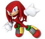 Knuckles' artwork, from Mario & Sonic at the Rio 2016 Olympic Games.