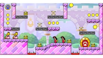 Miiverse screenshot of the 7th official level in the online community of Mario vs. Donkey Kong: Tipping Stars