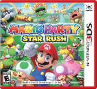 North American box art for Mario Party: Star Rush with a red box