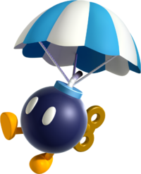 Artwork of a Parabomb from New Super Mario Bros. U Deluxe.
