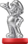 The Silver edition of the Mario amiibo