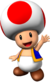 Artwork of Toad from Mario Party 6 (also used in Mario Party 7, New Super Mario Bros. and Mario Kart Wii)