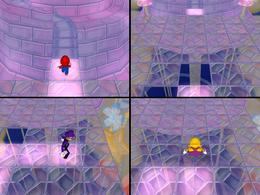 Memory Lane at night from Mario Party 6