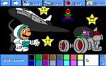 Mario as an astronaut.