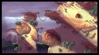 Concept artwork from Donkey Kong Country Returns showing the cliff area.