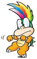 Super Mario Bros. 3: Artwork of Lemmy Koopa and his wackiness