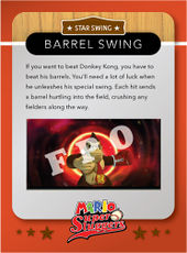 Level 2 Barrel Swing card from the Mario Super Sluggers card game