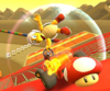 The icon of the Baby Peach Cup challenge from the Peach Tour in Mario Kart Tour
