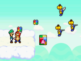 The Trio and the Mario Bros. in Toad Town in Mario & Luigi: Bowser's Inside Story and Mario & Luigi: Bowser's Inside Story + Bowser Jr.'s Journey