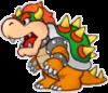 Paper Bowser's battle sprite from Mario & Luigi: Paper Jam.
