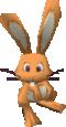 A orange Rabbit in Super Mario 64 DS
