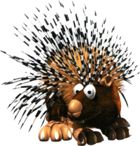 A Spiny in Donkey Kong Country 2.