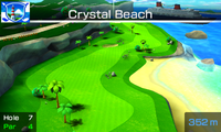 Hole 7 of Crystal Beach from Mario Sports Superstars