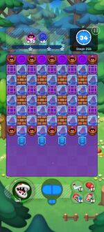Stage 25B from Dr. Mario World