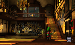 The Foyer segment from Luigi's Mansion: Dark Moon.