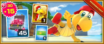 The Red Koopa (Freerunning) Pack from the London Tour in Mario Kart Tour