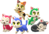 Art of cats from Super Mario 3D World + Bowser's Fury