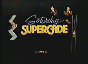 Saturday Supercade title card as seen in the opening.