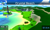 Hole 8 of Crystal Beach from Mario Sports Superstars