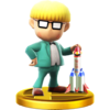 Jeff trophy from Super Smash Bros. for Wii U