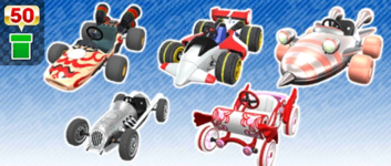 The Open Wheel Pipe from the Wedding Tour in Mario Kart Tour