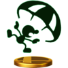 Mr. Game & Watch's alternate trophy, from Super Smash Bros. for Wii U.