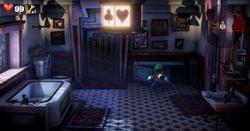 The Suit Bathroom in Luigi's Mansion 3