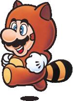 Tanooki Mario in Super Mario Bros. 3.