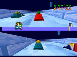 The minigame Bobsled Run.
