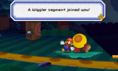 The first Wiggler segment joins Mario.