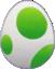 Artwork of a Yoshi Egg in Super Mario Sunshine.