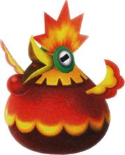 Artwork of a Cluckboom from Super Mario Galaxy 2