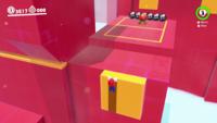 The ledge-climbing bonus area in Super Mario Odyssey