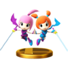 Kat & Ana trophy from Super Smash Bros. for Wii U