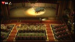 Luigi fighting Amadeus Wolfgeist in the Auditorium.