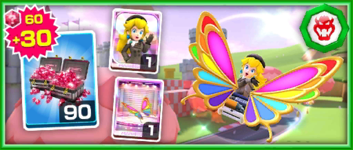 The Team Bowser Peach (Wintertime) Pack from the Bowser vs. DK Tour in Mario Kart Tour