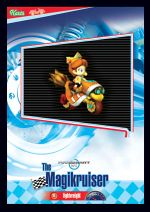 The Magikruiser card from the Mario Kart Wii trading cards