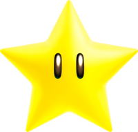Artwork of a Super Star from New Super Mario Bros. U Deluxe