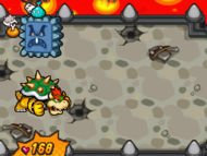 Bowser using the shell defense in Mario & Luigi: Bowser's Inside Story and Mario & Luigi: Bowser's Inside Story + Bowser Jr.'s Journey