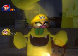 Wario in Specter Inspector from Mario Party 8