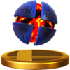 X Bomb trophy from Super Smash Bros. for Wii U